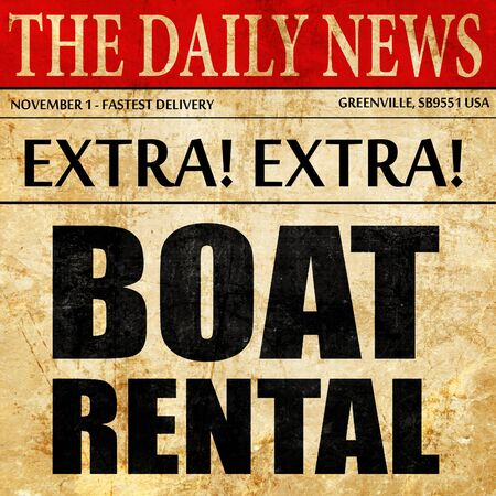 rental: boat rental, newspaper article text