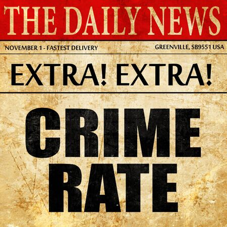 convicted: crime rate, newspaper article text