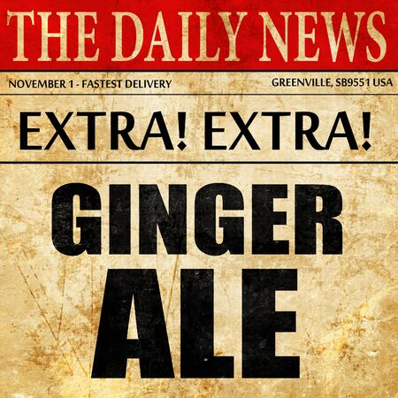 the brewer: ginge ale, newspaper article text
