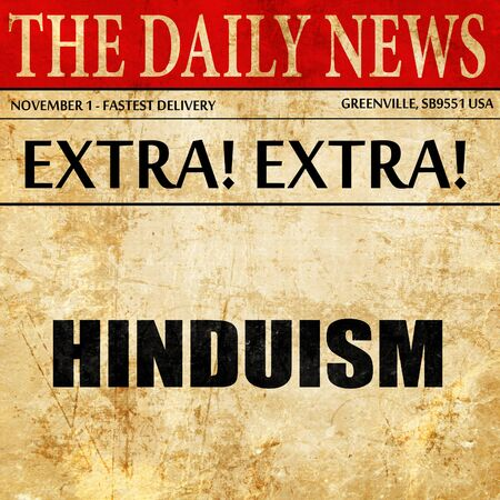 hinduismo: hinduismo, artículo de prensa de texto Foto de archivo
