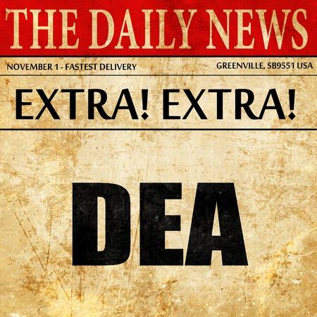 dea: dea, newspaper article text