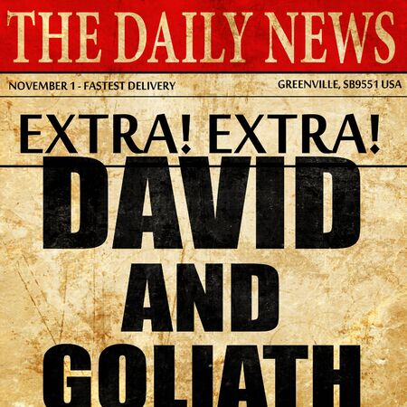 david and goliath: david and goliath, newspaper article text