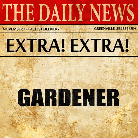 seed pots: gardener, newspaper article text
