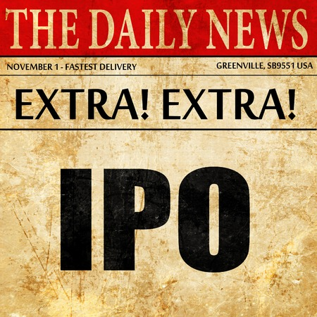 initial public offerings: ipo, newspaper article text