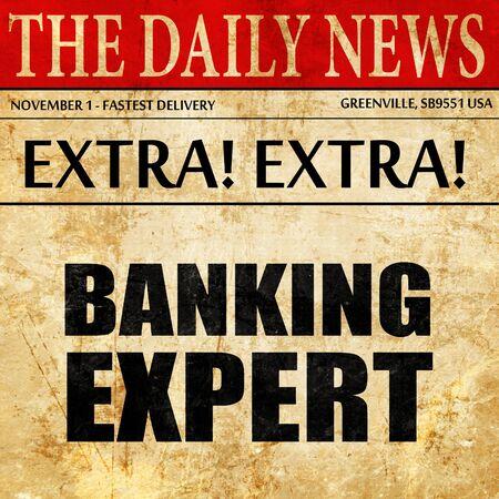 technology agreement: banking expert, newspaper article text