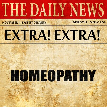 globules: homeopathy, newspaper article text
