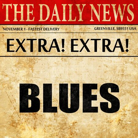 blues music: blues music, newspaper article text