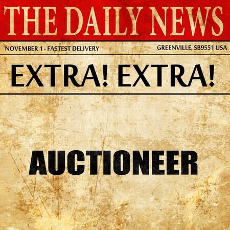bidding: auctioneer, newspaper article text