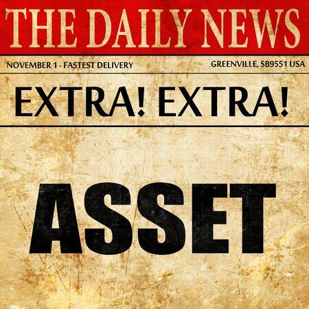 digital asset management: asset, newspaper article text