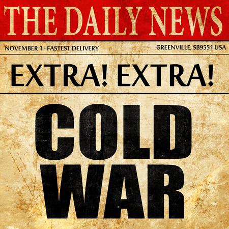 gorbachev: cold war, newspaper article text Stock Photo