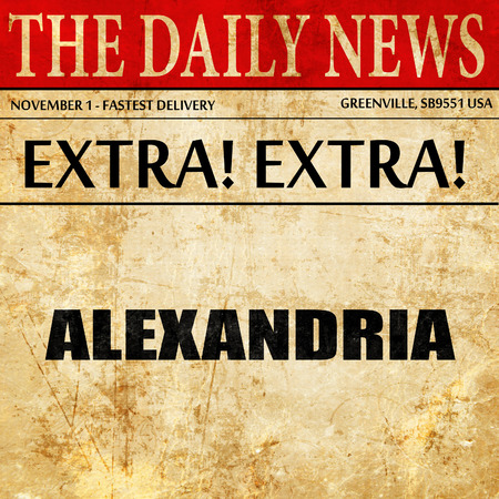 alexandria: alexandria, newspaper article text Stock Photo
