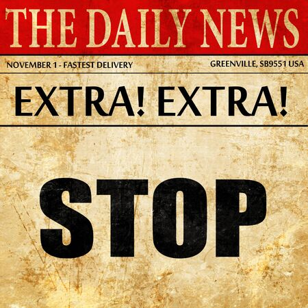 article: stop, newspaper article text