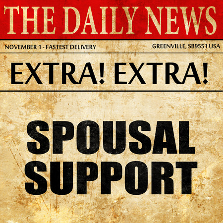 spousal: spousal support, newspaper article text