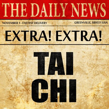 tai: tai chi, newspaper article text