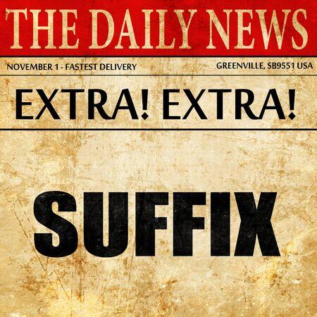 suffix: suffix, newspaper article text