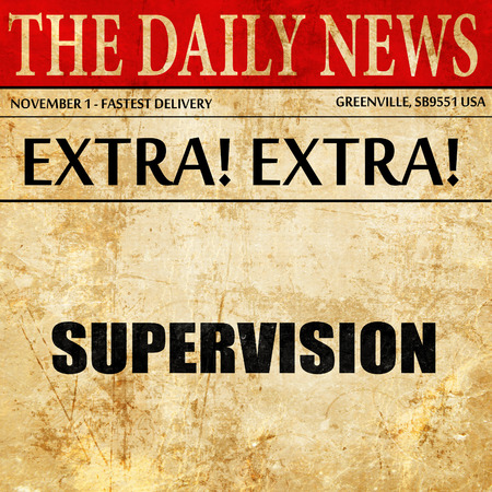 supervisión: supervision, newspaper article text