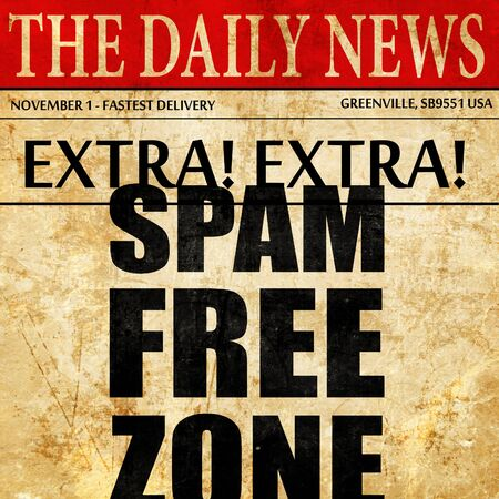 spam: spam free zone, newspaper article text
