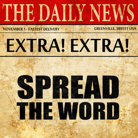 spread the word, newspaper article text
