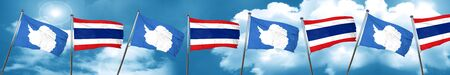 antarctica flag with Thailand flag, 3D rendering Stock Photo