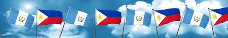 guatemalan: guatemala flag with Philippines flag, 3D rendering