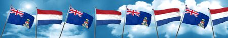 cayman islands flag with Netherlands flag, 3D rendering