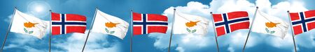 norway flag: Cyprus flag with Norway flag, 3D rendering Stock Photo