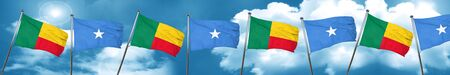 somalia: Benin flag with Somalia flag, 3D rendering Stock Photo