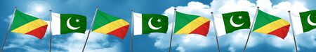 flag of pakistan: Congo flag with Pakistan flag, 3D rendering Stock Photo