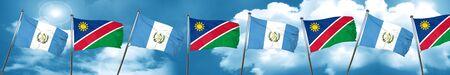 guatemalan: guatemala flag with Namibia flag, 3D rendering