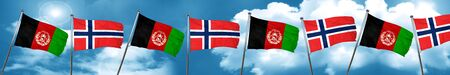 Afghanistan flag with Norway flag, 3D rendering Stock Photo