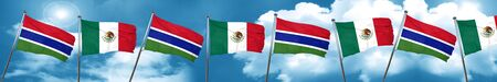 gambia: Gambia flag with Mexico flag, 3D rendering Stock Photo