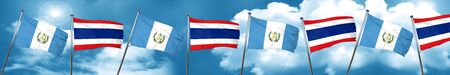 guatemala flag with Thailand flag, 3D rendering