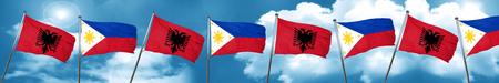 combines: Bandera de Albania con la bandera de Filipinas, 3D Foto de archivo