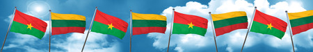 combines: Burkina Faso flag with Lithuania flag, 3D rendering