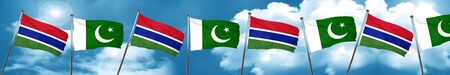 gambia: Gambia flag with Pakistan flag, 3D rendering