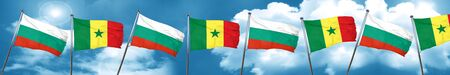 bulgaria flag with Senegal flag, 3D rendering Stock Photo