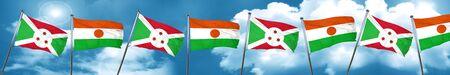 burundi: Burundi flag with Niger flag, 3D rendering