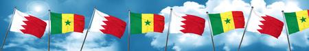 senegal: Bahrain flag with Senegal flag, 3D rendering