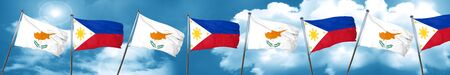 cyprus: Cyprus flag with Philippines flag, 3D rendering Stock Photo