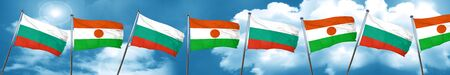bulgaria flag with Niger flag, 3D rendering