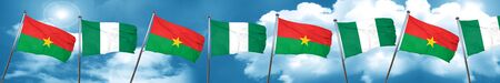 country nigeria: Burkina Faso flag with Nigeria flag, 3D rendering