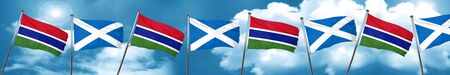 gambia: Gambia flag with Scotland flag, 3D rendering