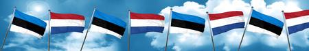 estonia flag with Netherlands flag, 3D rendering