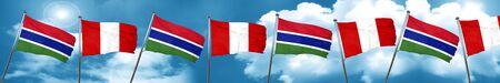 bandera de peru: Gambia flag with Peru flag, 3D rendering Foto de archivo