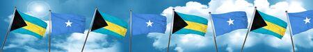Bahamas flag with Somalia flag, 3D rendering Stock Photo