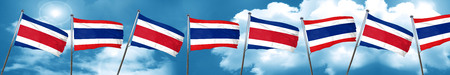 costa: Costa Rica flag with Thailand flag, 3D rendering