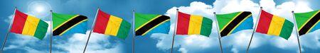 tanzania: Guinea flag with Tanzania flag, 3D rendering Stock Photo