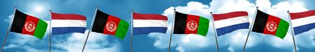 Afghanistan flag with Netherlands flag, 3D rendering Stock Photo