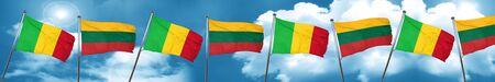 Mali flag with Lithuania flag, 3D rendering Stock Photo