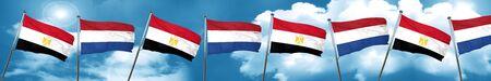 bandera de egipto: Bandera de Egipto con bandera de los Países Bajos, 3D Foto de archivo